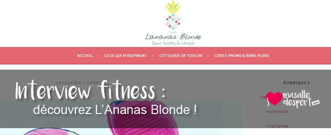 Interview fitness : découvrez l'Ananas Blonde !
